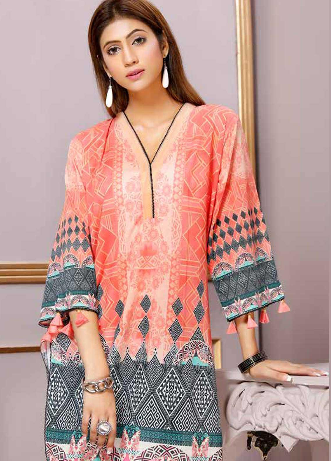 Florence by Mohagni Printed Lawn Unstitched Kurties FMO19-T2 14 - Mid Summer Collection