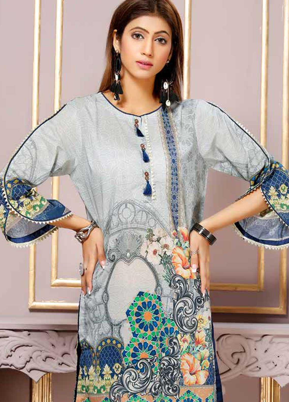 aae37fc45f Florence by Mohagni Printed Lawn Unstitched Kurties FMO19-T2 18 - Mid  Summer Collection