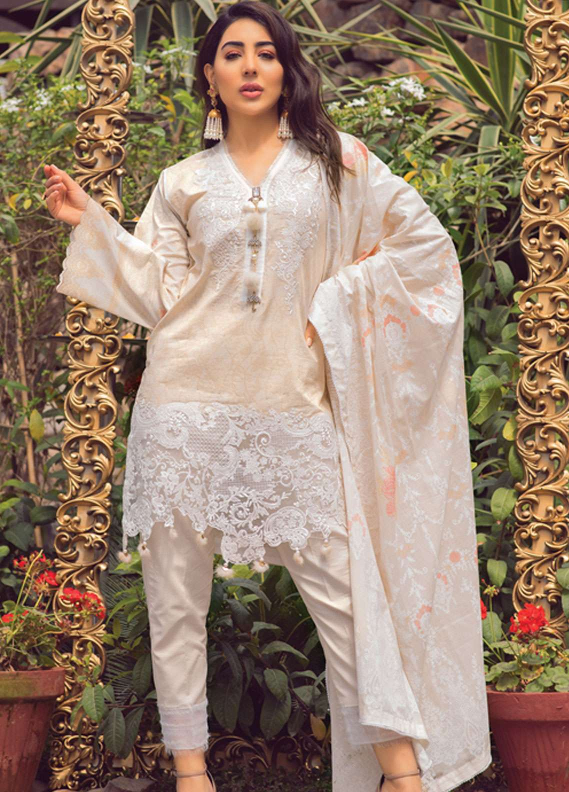 Florence by Rang Rasiya Embroidered Lawn Unstitched 3 Piece Suit FRR19L 8002A - Spring / Summer Collection