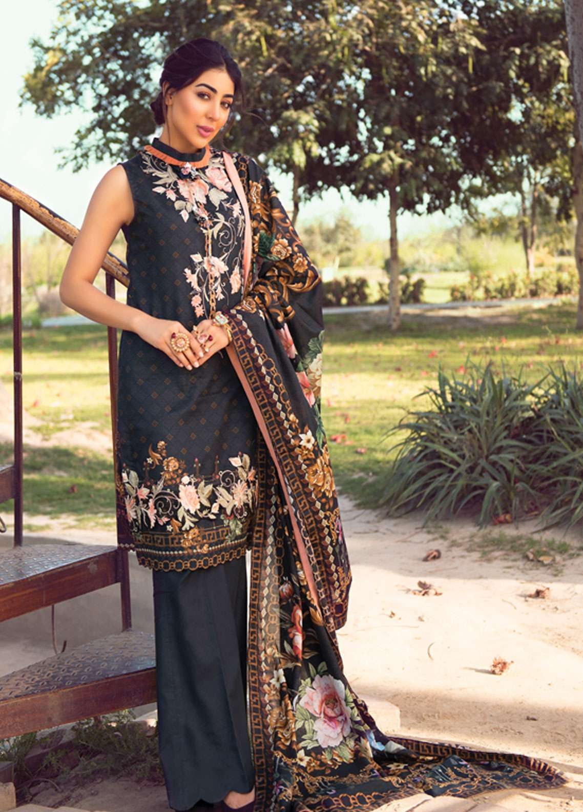 f6b84d8e8d Florence by Rang Rasiya Embroidered Lawn Unstitched 3 Piece Suit FRR19L  8003B - Spring / Summer