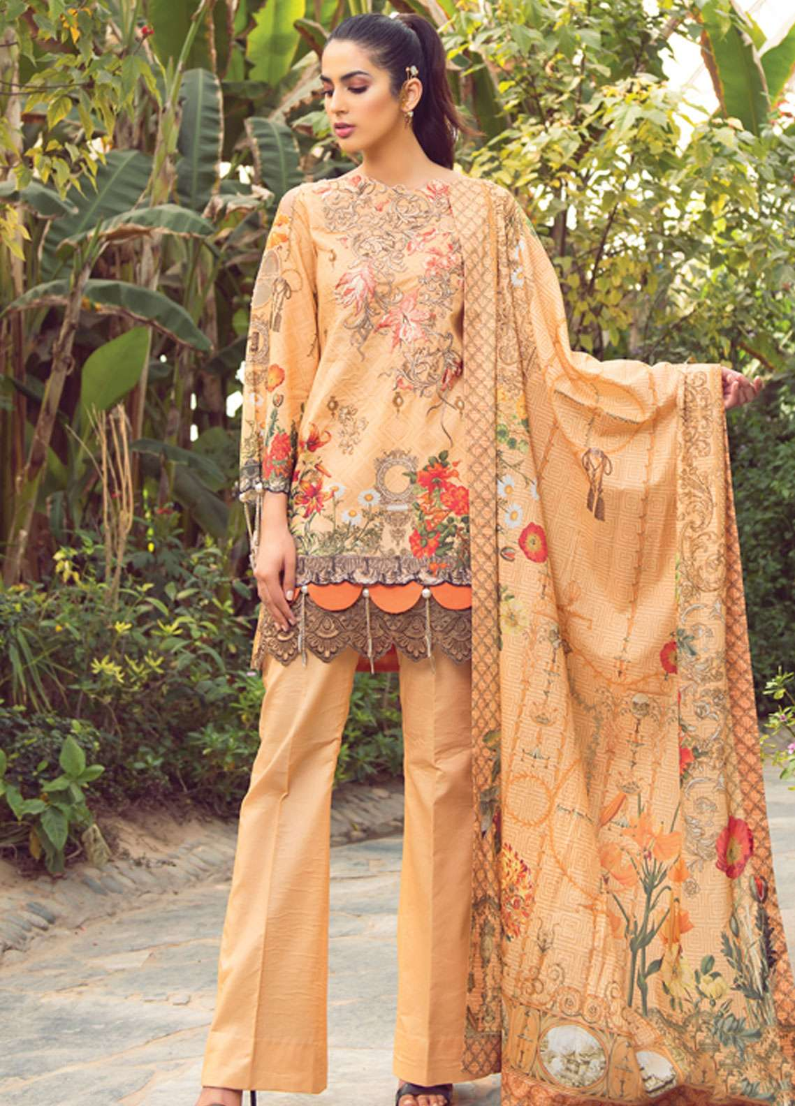 8383f1e959 Florence by Rang Rasiya Embroidered Lawn Unstitched 3 Piece Suit FRR19L  8005A - Spring / Summer