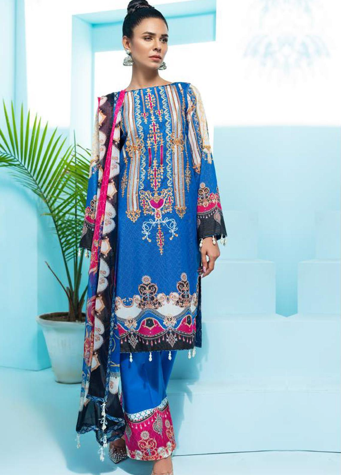 Florence by Rang Rasiya Embroidered Lawn Unstitched 3 Piece Suit RR20SF F542 - Spring / Summer Collection