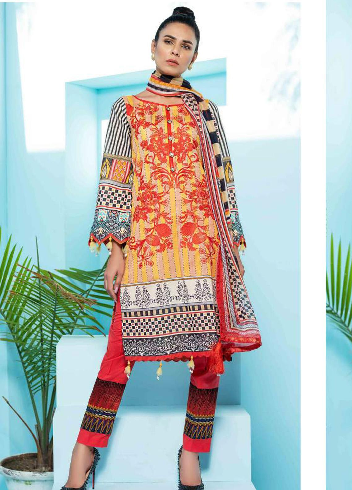 Florence by Rang Rasiya Embroidered Lawn Unstitched 3 Piece Suit RR20SF F548 - Spring / Summer Collection