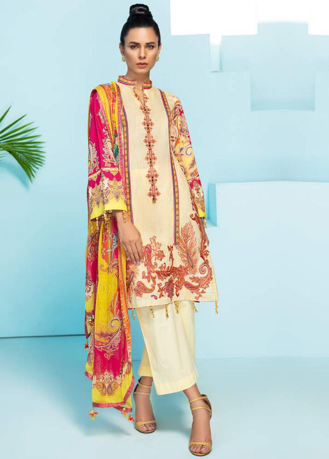 Florence by Rang Rasiya Embroidered Lawn Unstitched 3 Piece Suit RR20SF F551 - Spring / Summer Collection