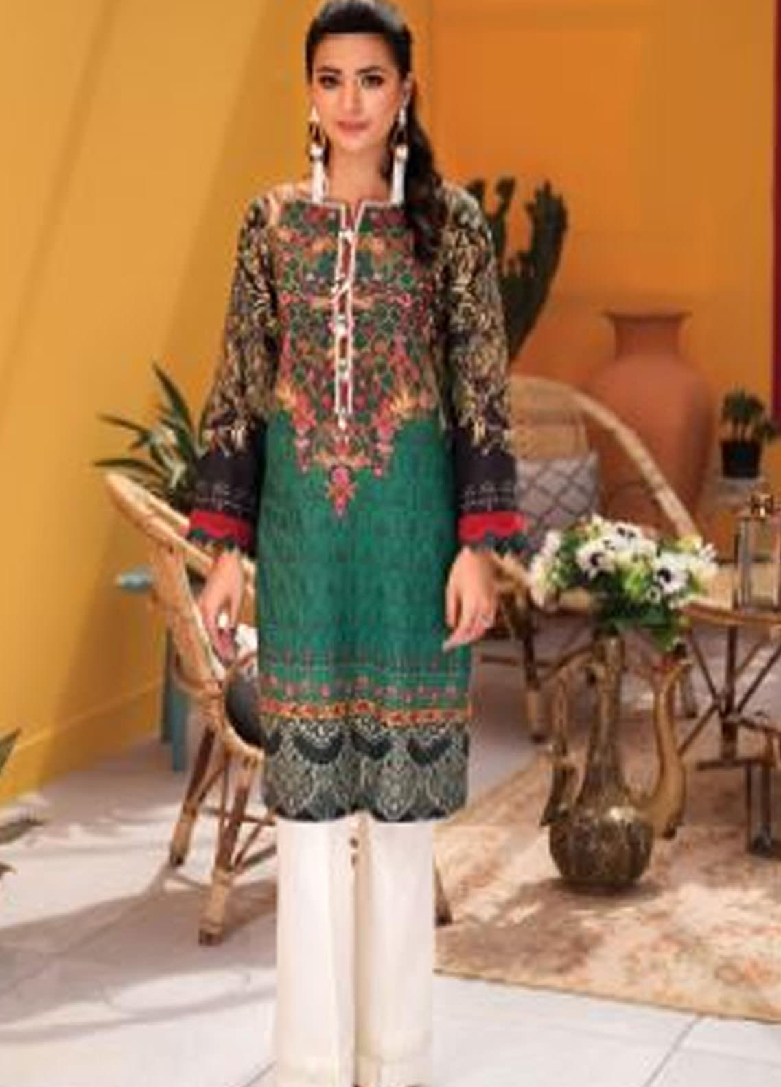 Florent Printed Lawn Unstitched 2 Piece Suit F20SV 09 - Summer Collection