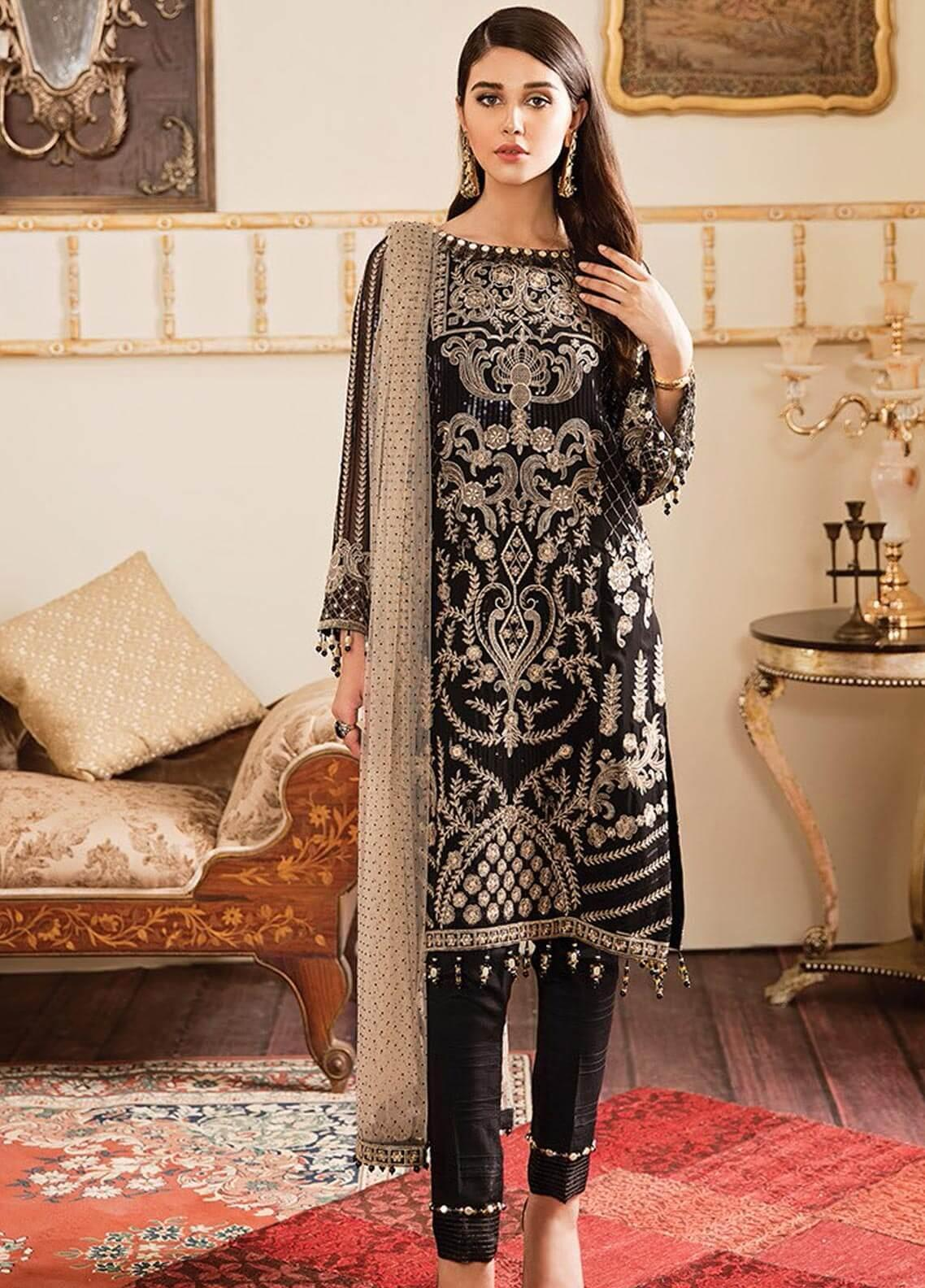 Kuch Khas By Flossie Embroidered Chiffon Unstitched 3 Piece Suit FKK19-C4 04 FLORENCE - Luxury Collection