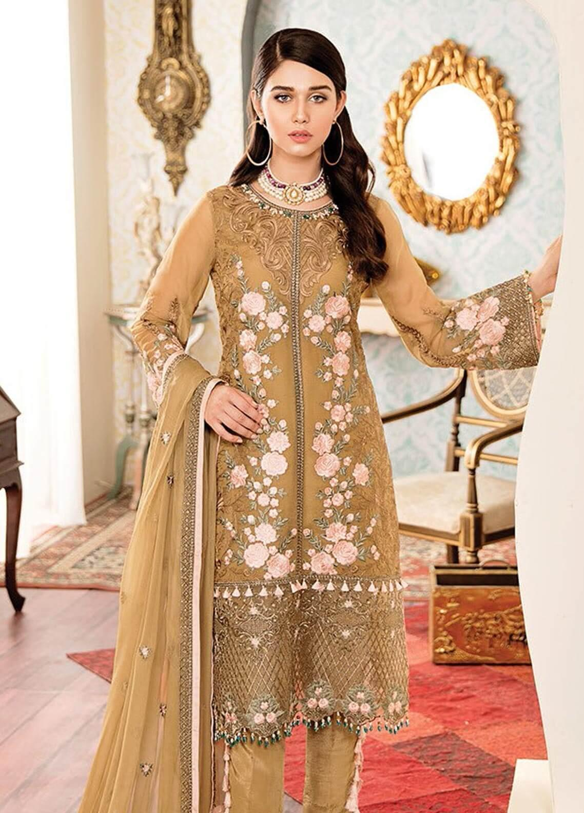 b4129aab47 Kuch Khas By Flossie Embroidered Chiffon Unstitched 3 Piece Suit FKK19-C4  06 BELLISIMO -