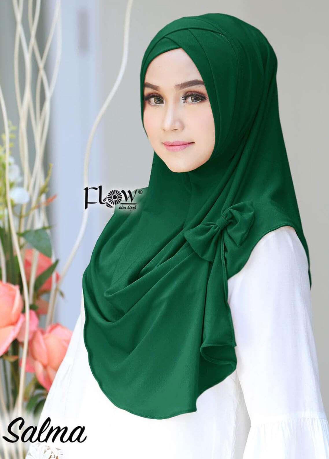 Flow Idea Hijab  Jersey  Ladies Scarves HH Flow Cross 03 Green