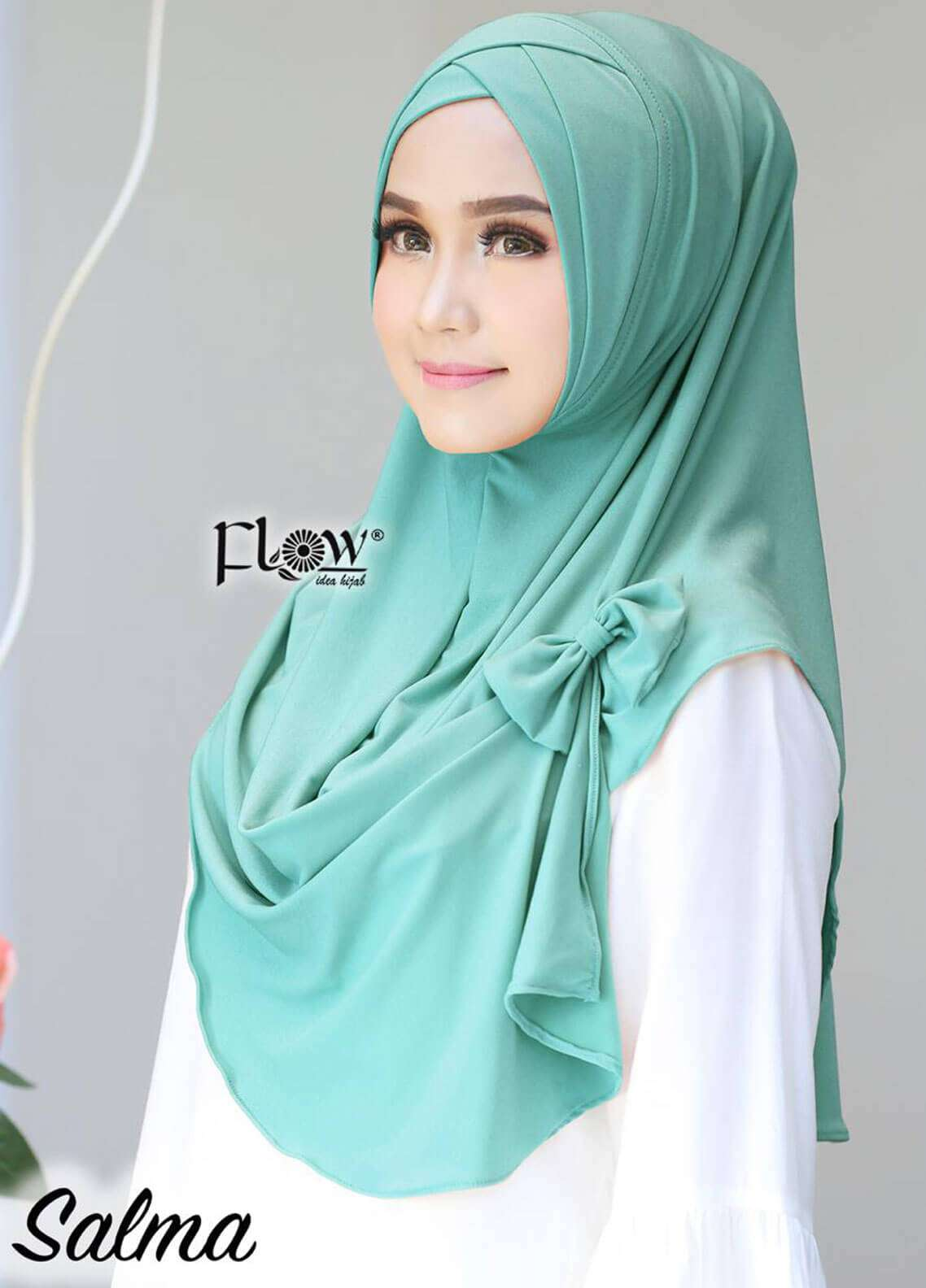 Flow Idea Hijab  Jersey  Ladies Scarves HH Flow Cross 04 Mint