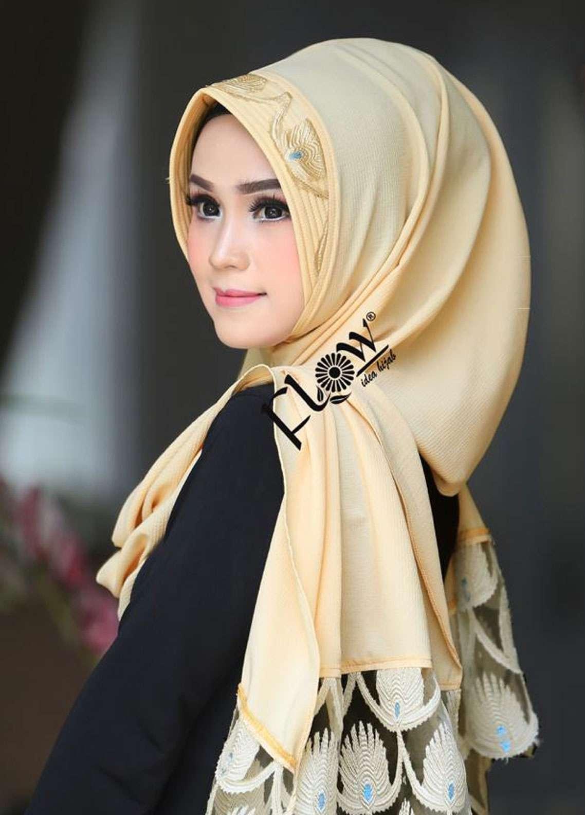 Flow Idea Hijab  Bubble Pop  Ladies Scarves HH Flow Maruya 03 Cream