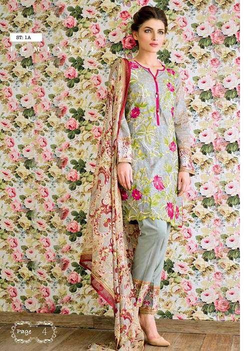Feminine By Shariq Embroidered Lawn Unstitched 3 Piece Suit FM17E 1A