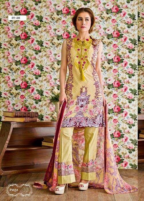 Feminine By Shariq Embroidered Lawn Unstitched 3 Piece Suit FM17E 2B