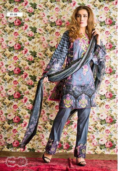 Feminine By Shariq Embroidered Lawn Unstitched 3 Piece Suit FM17E 3B