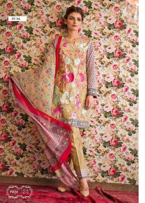 Feminine By Shariq Embroidered Lawn Unstitched 3 Piece Suit FM17E 5A