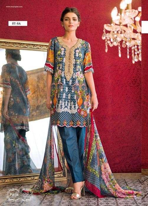 Feminine By Shariq Embroidered Lawn Unstitched 3 Piece Suit FM17E 6A