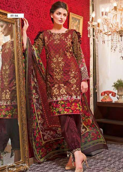 Feminine By Shariq Embroidered Lawn Unstitched 3 Piece Suit FM17E 9A