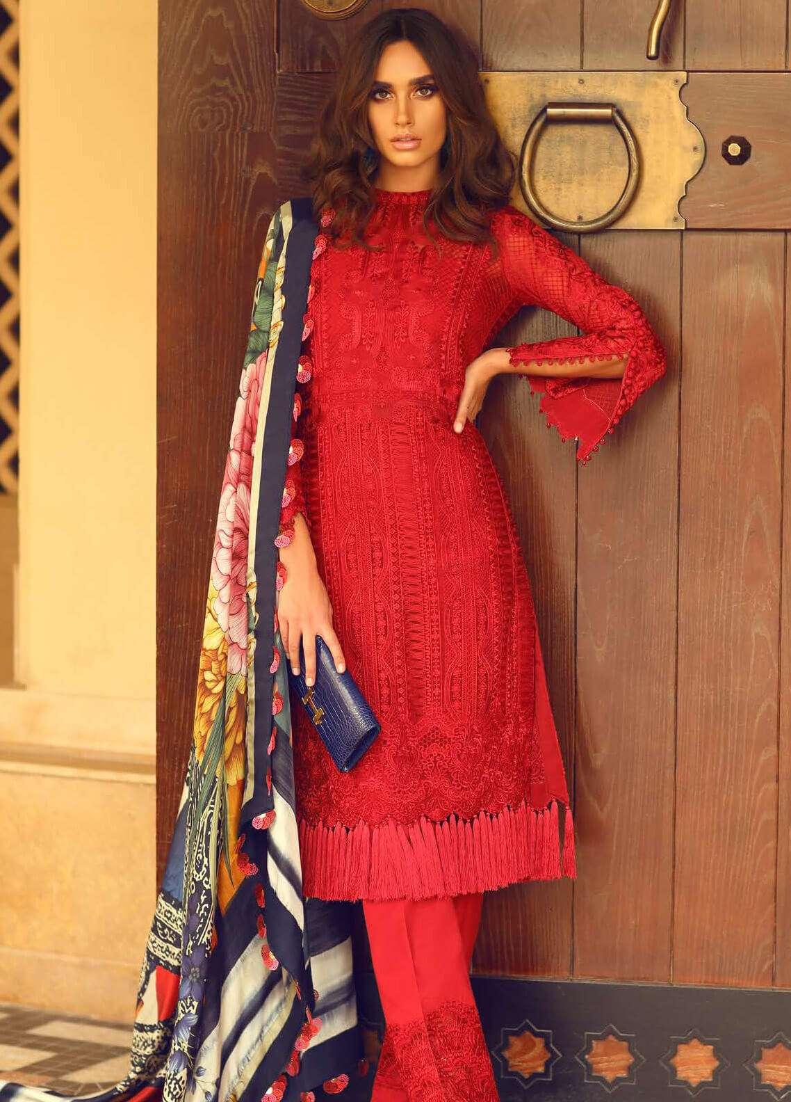 ced9c2ec9d Faraz Manan Embroidered Organza Unstitched 3 Piece Suit FM18F 05 - Luxury  Collection