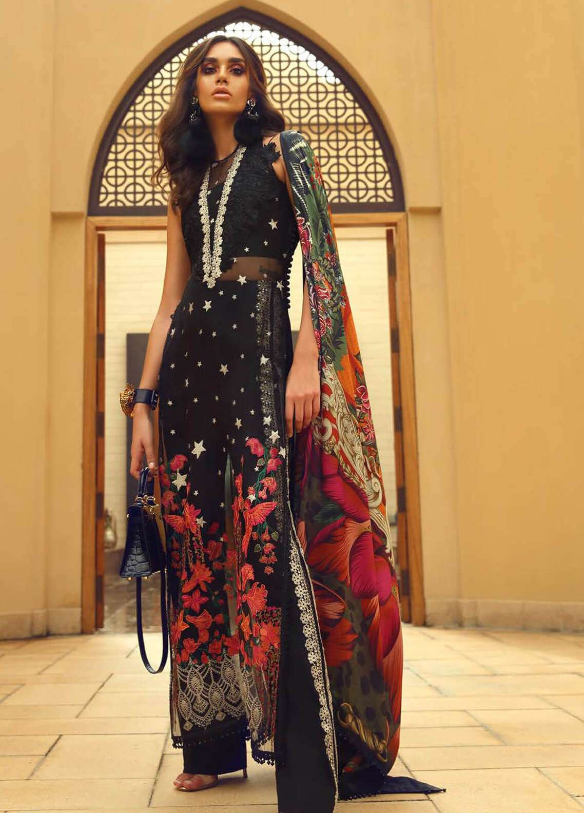 51bbc08328 Faraz Manan Embroidered Organza Unstitched 3 Piece Suit FM18F 07 - Luxury  Collection