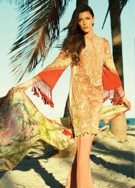Faraz Manan Embroidered Lawn Unstitched 3 Piece Suit FM18L 11 - Spring / Summer Collection