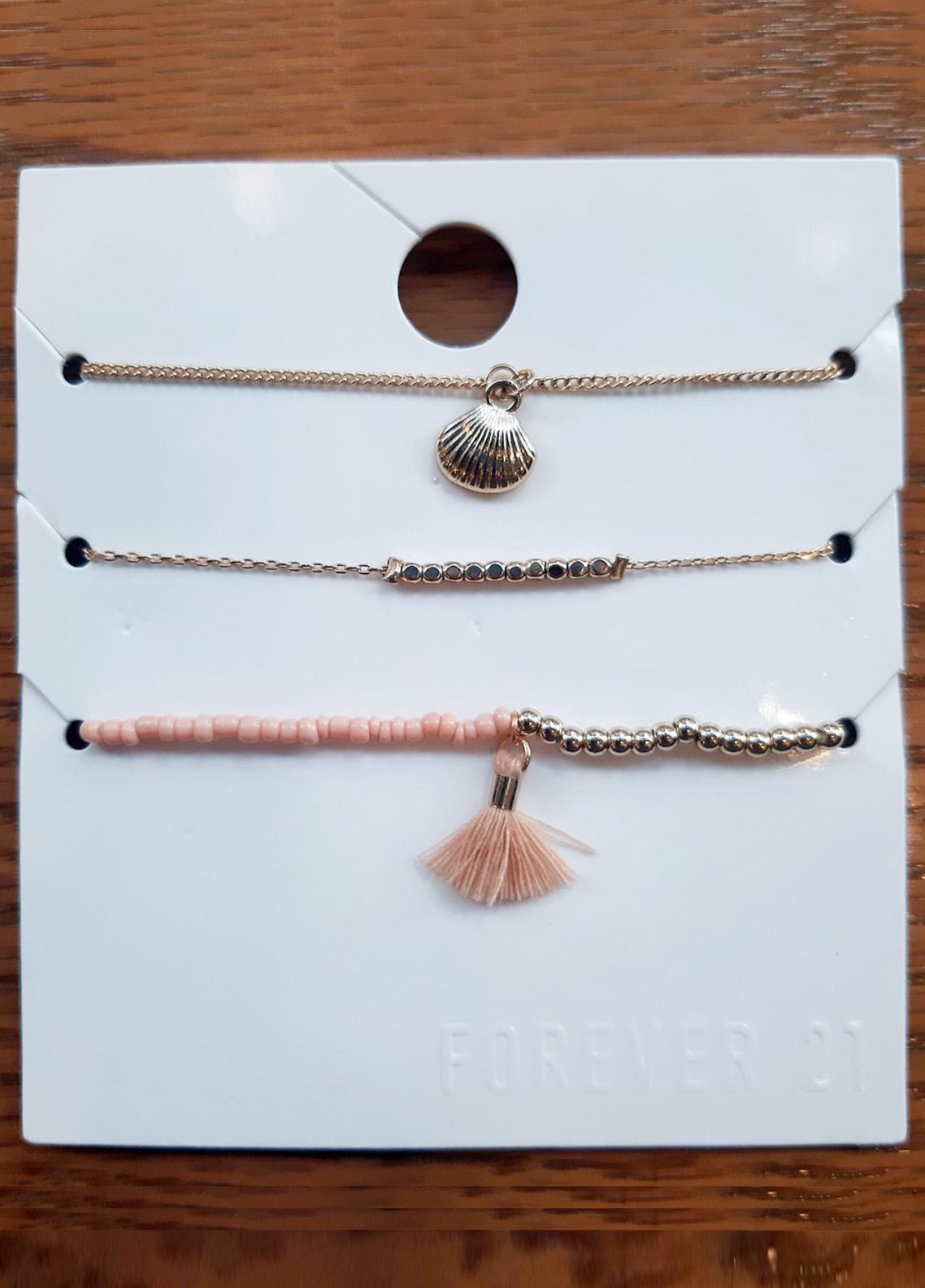 Crystal Stretch & Charm Bracelet Set  - Ladies Jewellery