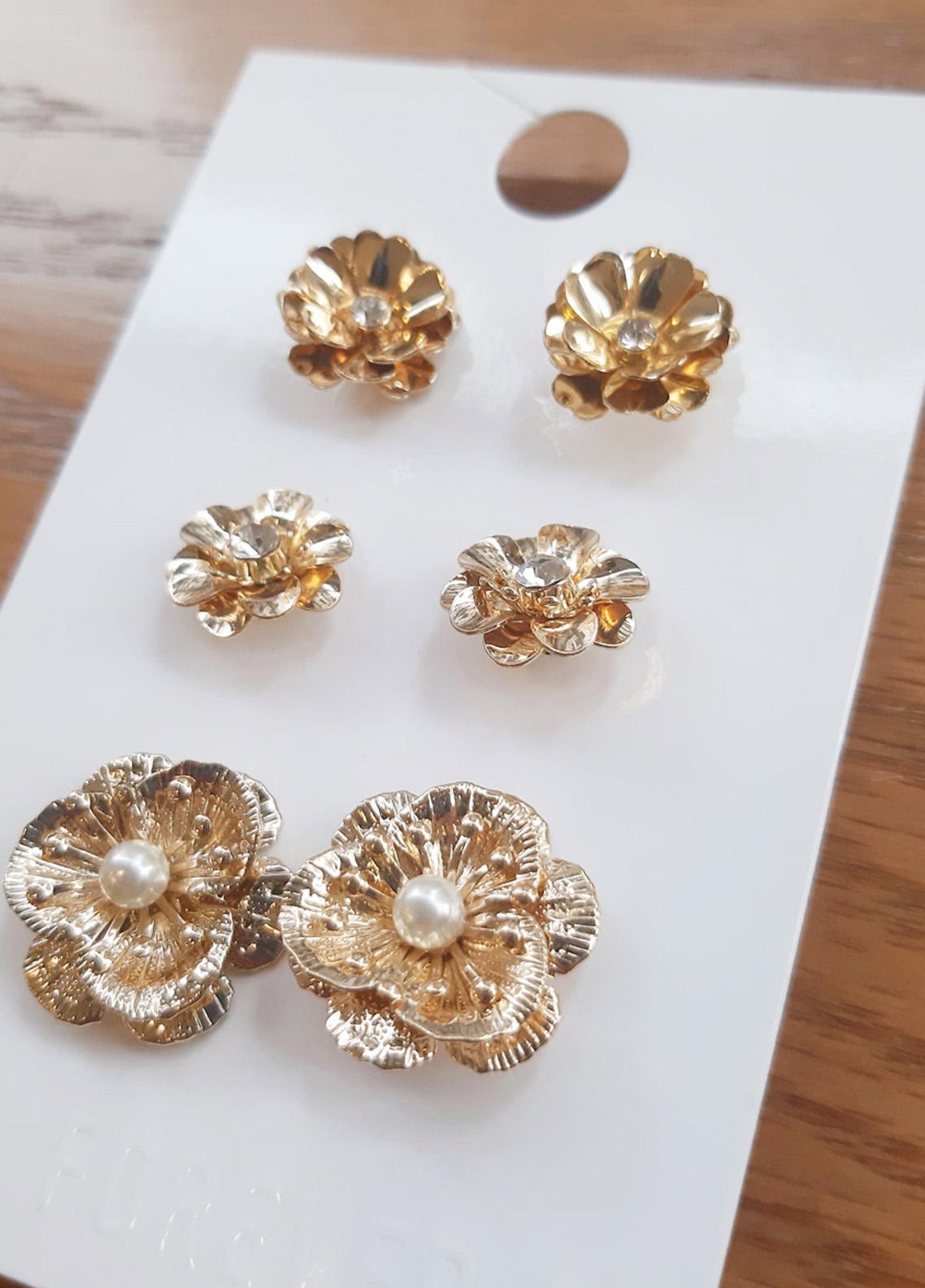 Forever21 Floral Stud Earring Set  - Ladies Jewellery