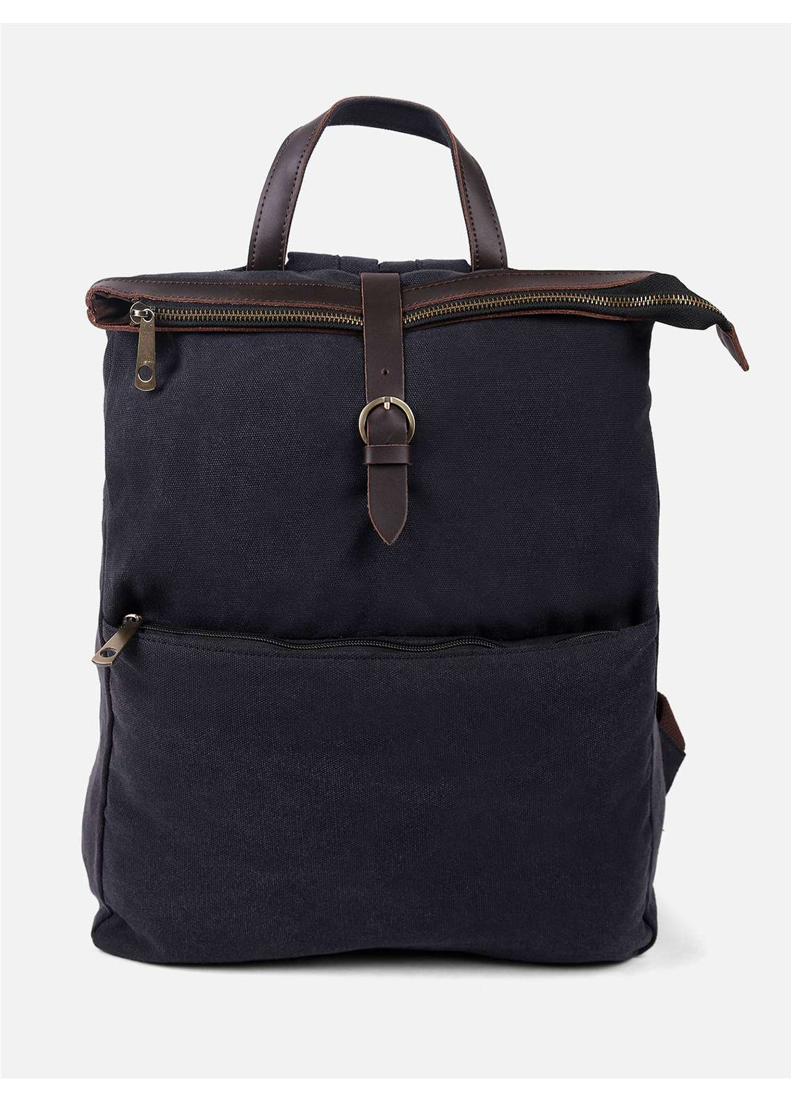 Furor Mix Backpack Bags for Unisex - Charcoal with Plain Texture