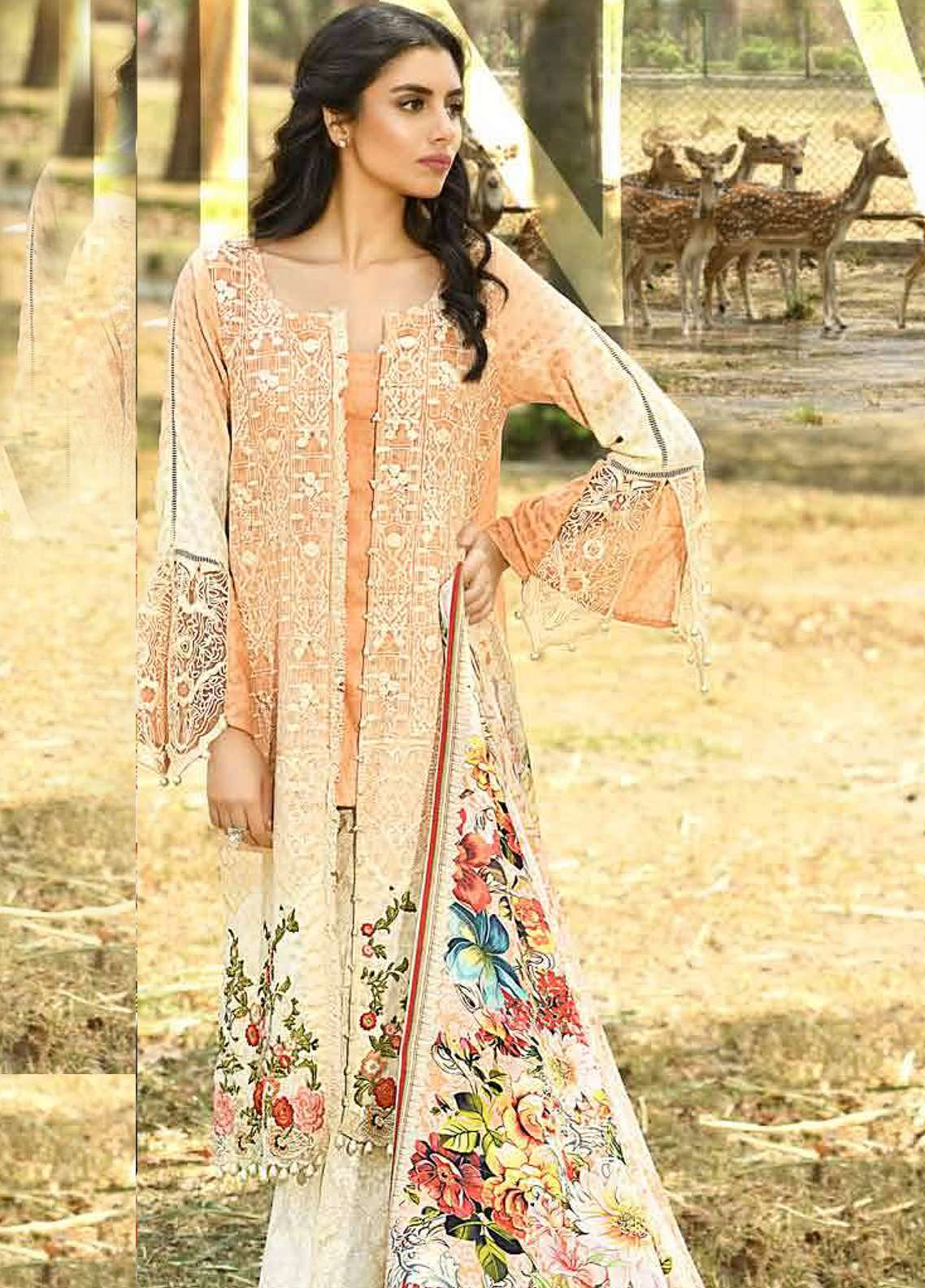 ad1d8f7c97 Firdous Fashion Embroidered Lawn Unstitched 3 Piece Suit FRC18E 14 - Eid  Collection