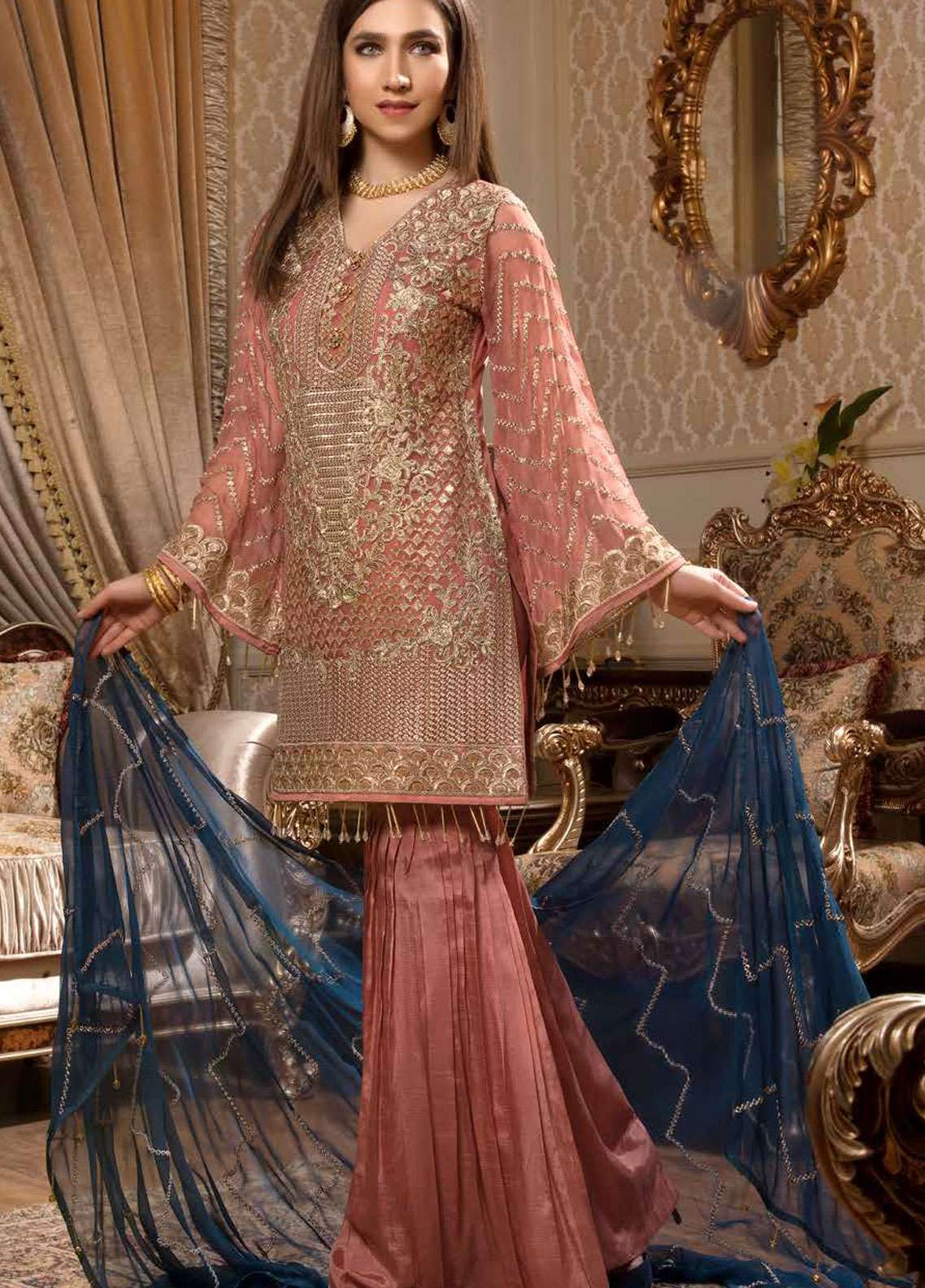 e0fe2e9916 Freesia by Maryum N Maria Embroidered Chiffon Unstitched 3 Piece Suit  FMM19C 605 MAJESTIC NOTES -