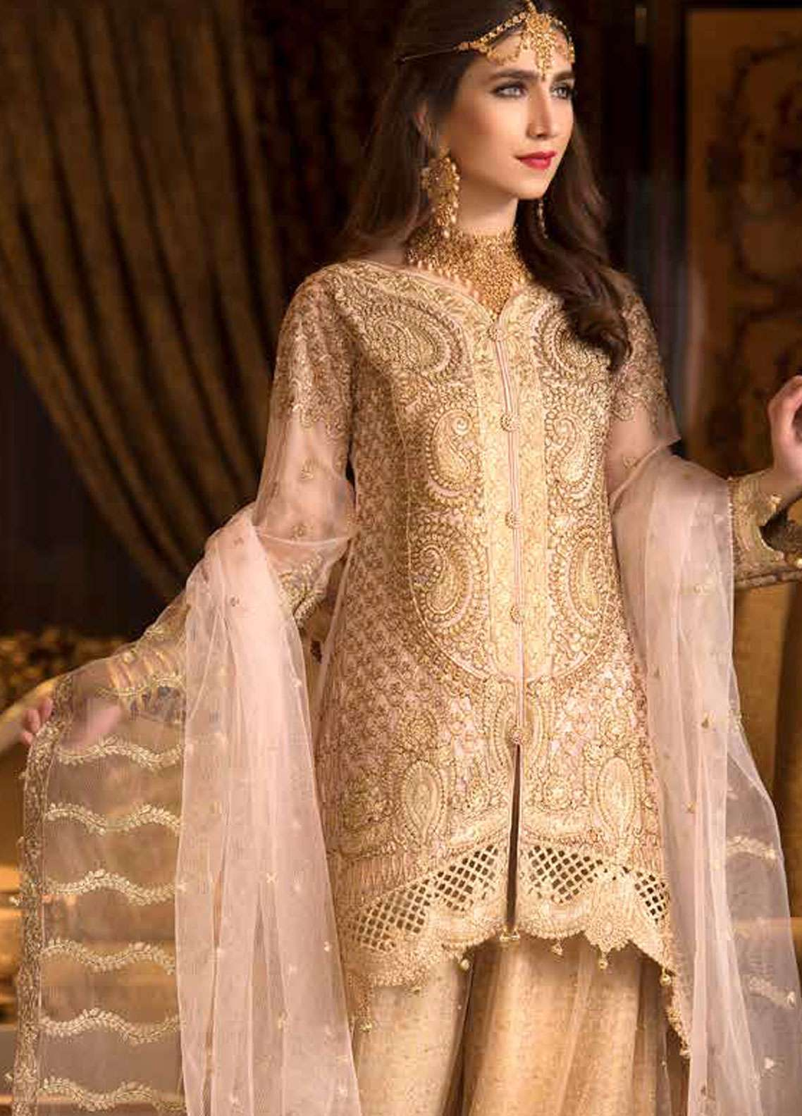 Freesia by Maryum N Maria Embroidered Chiffon Unstitched 3 Piece Suit FMM19C 610 TAJ PAVILION - Luxury Collection