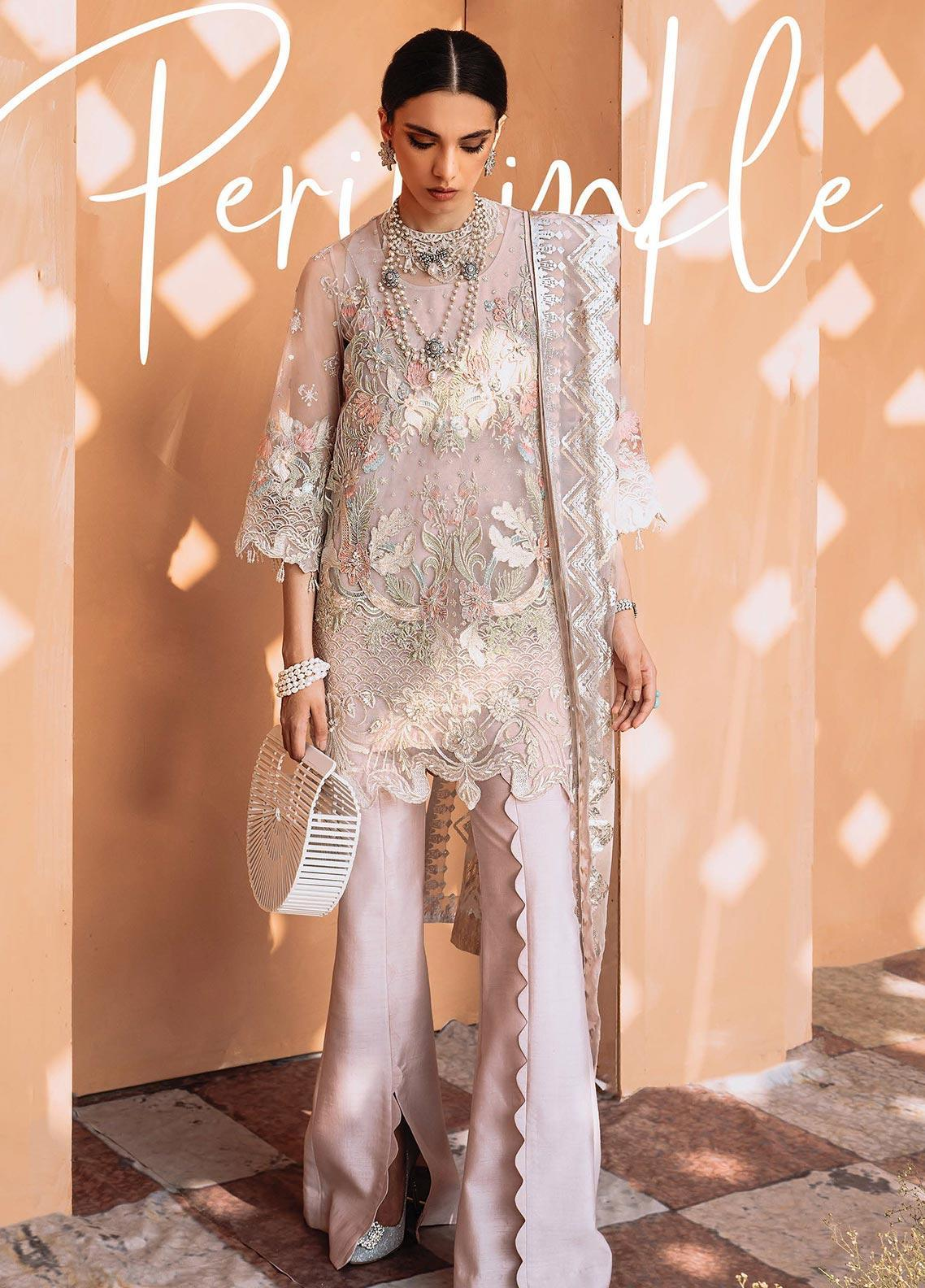 Freesia by Suffuse Embroidered Organza Stitched 3 Piece Suit FRS19O PERIWINKLE