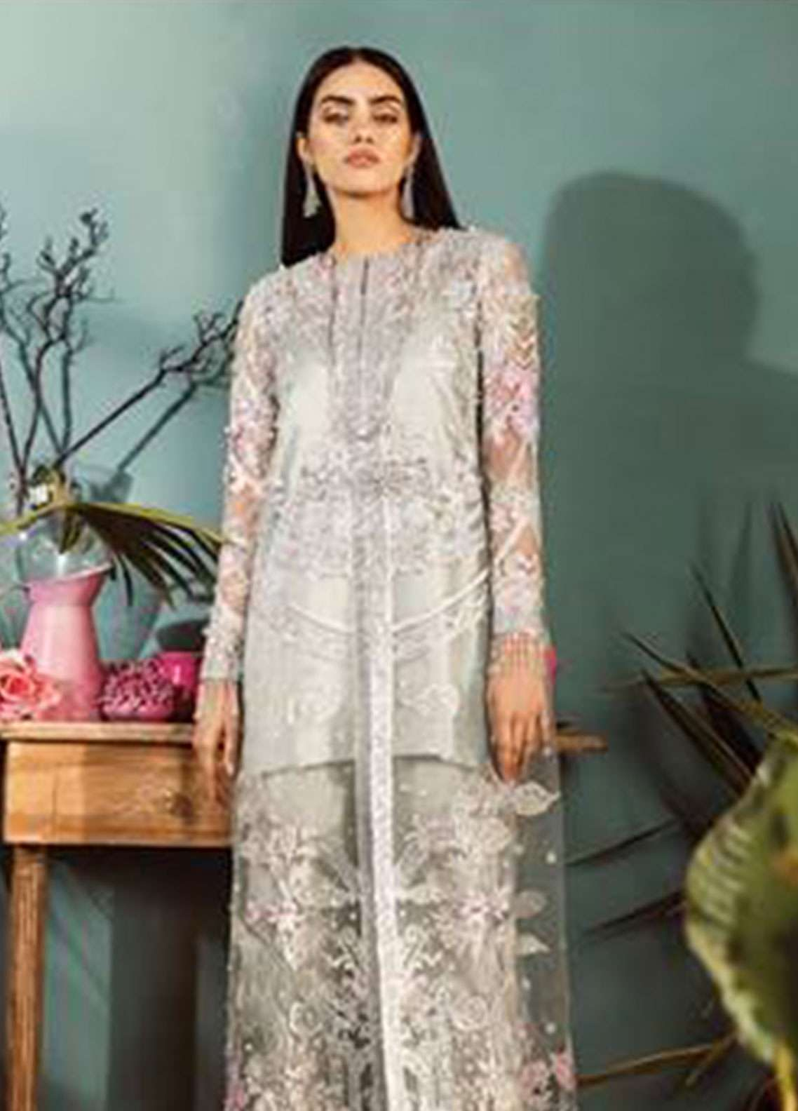 Freesia by Suffuse Embroidered Zari Net Unstitched 3 Piece Suit FRS19ZN 2 LANA - Luxury Collection