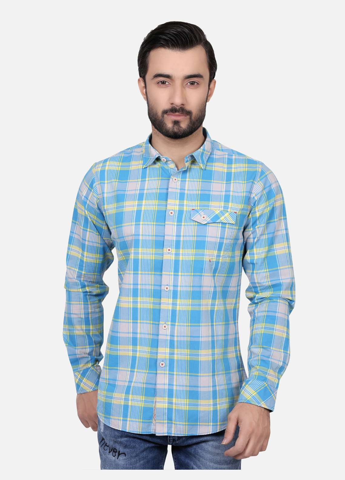 Furor  Casual Shirts for Men - Royal Blue FRM18CS 31118