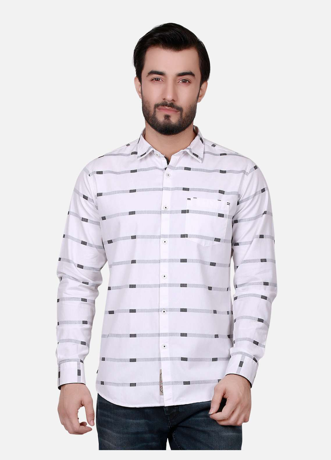 Furor  Casual Men Shirts - White FRM18CS 31175