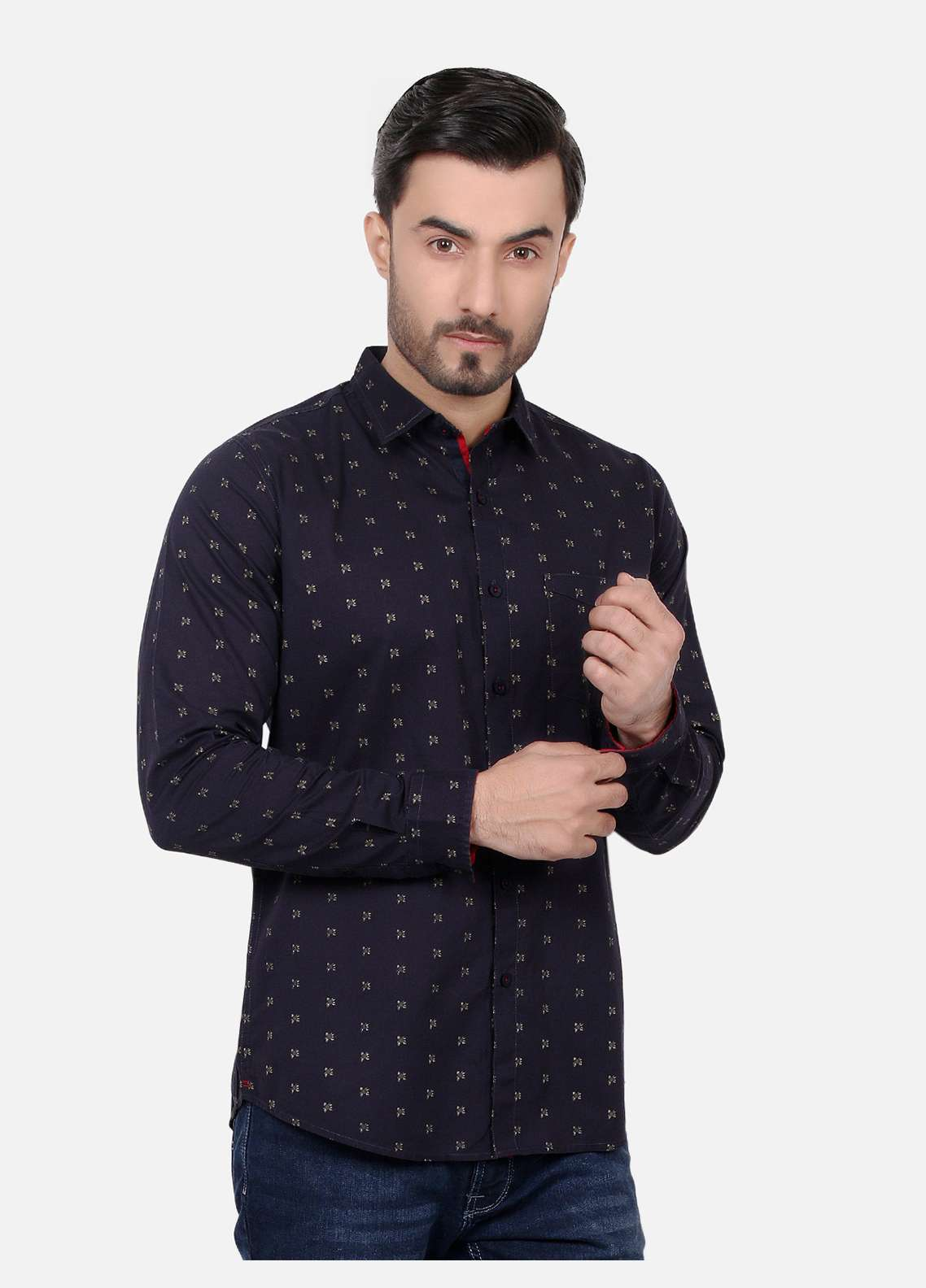 Furor  Casual Men Shirts - Navy Blue FRM18CS 31196