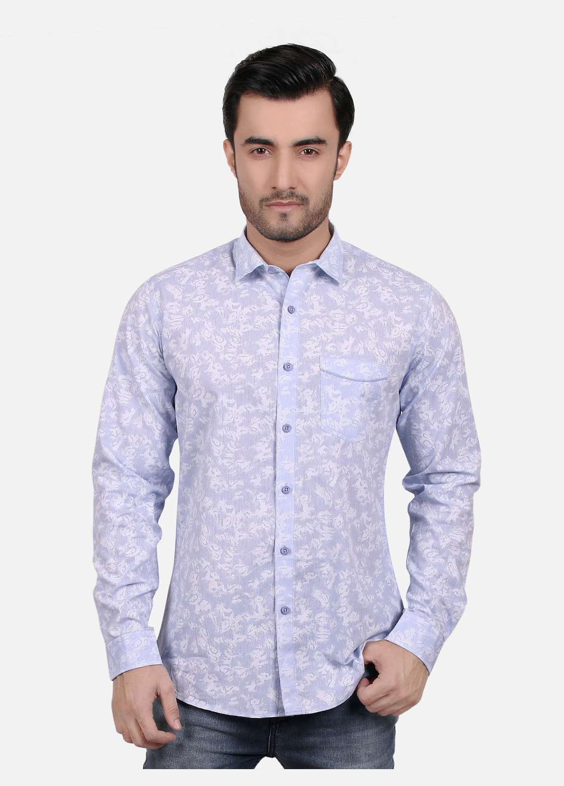 Furor  Casual Shirts for Men - Light Blue FRM18CS 31201