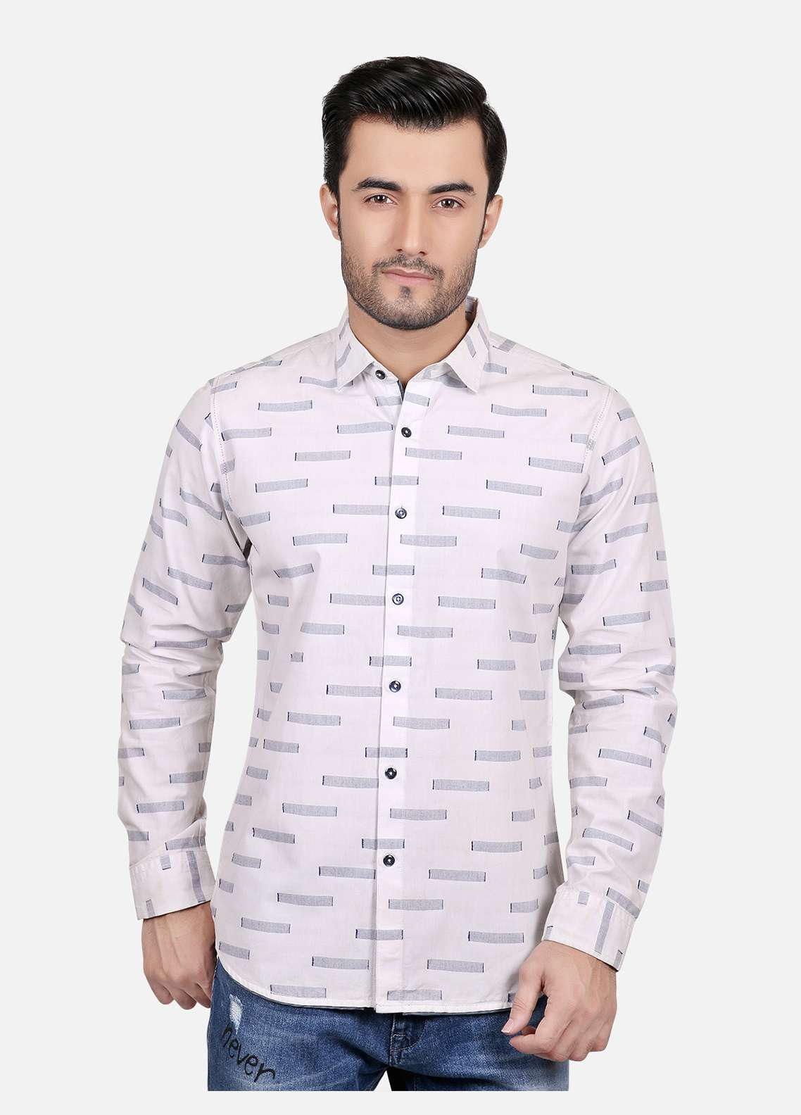Furor  Casual Men Shirts - White FRM18CS 31203