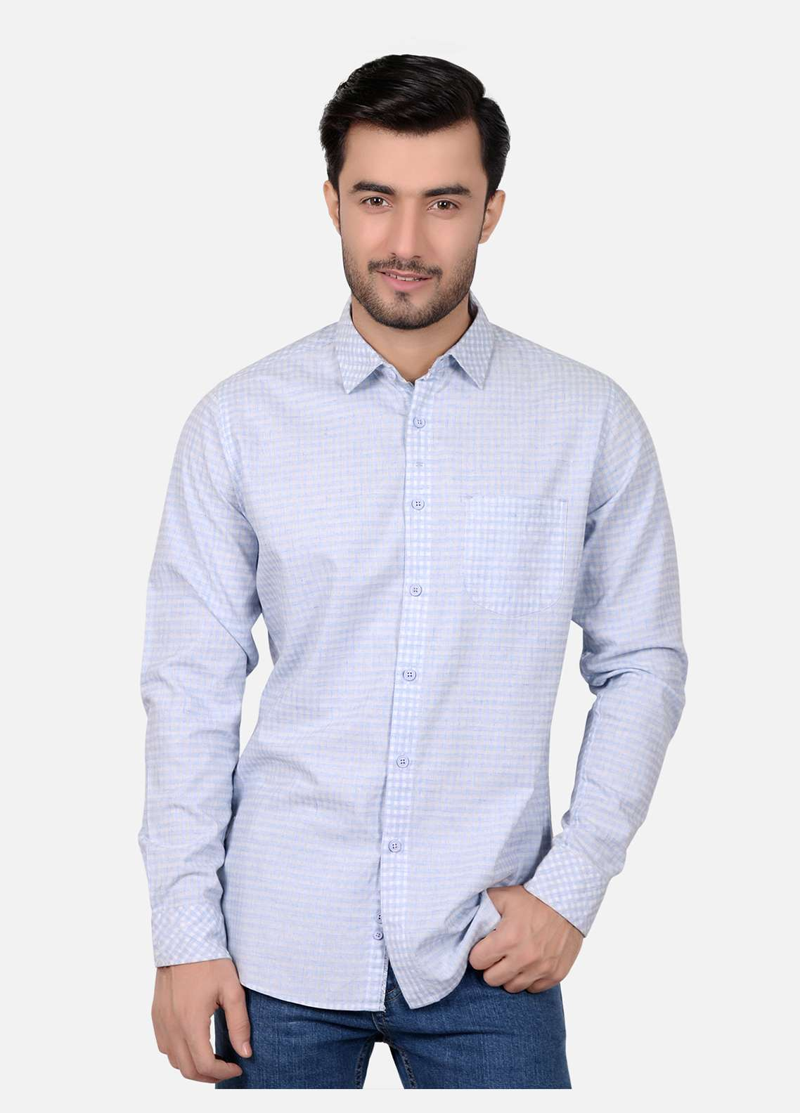 Furor  Casual Men Shirts - Light Blue FRM18CS 31206