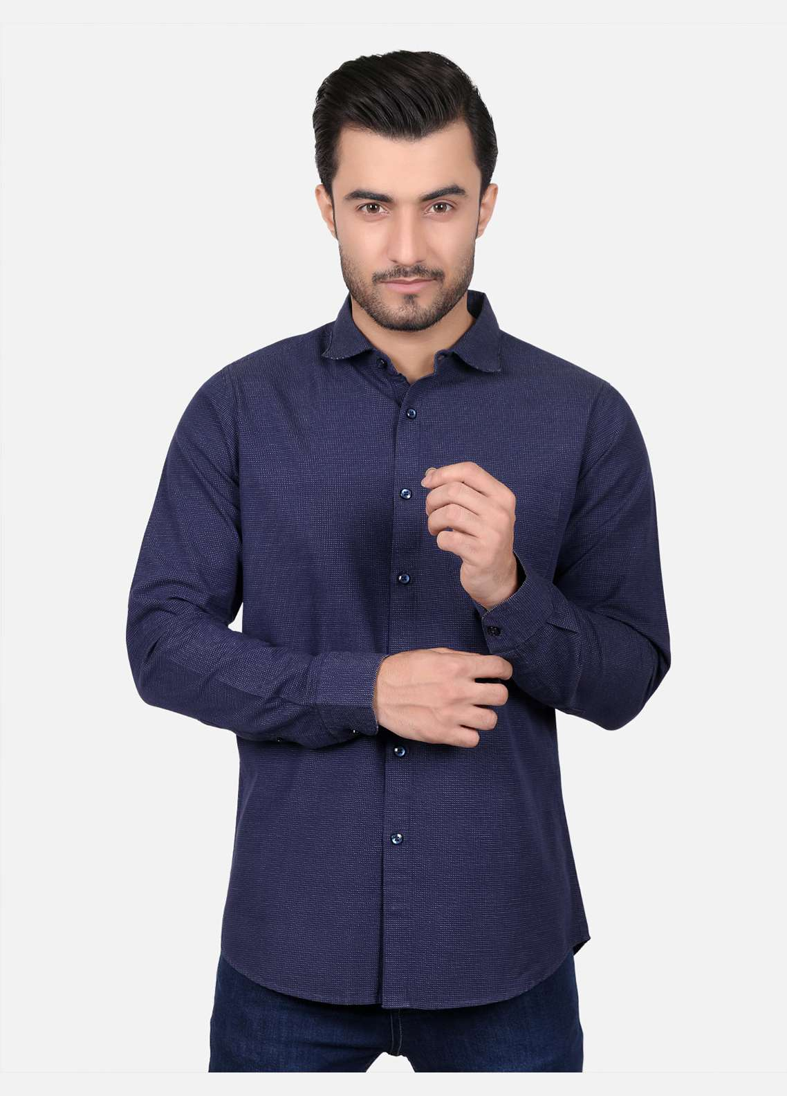 Furor  Casual Shirts for Men - Blue FRM18CS 31210