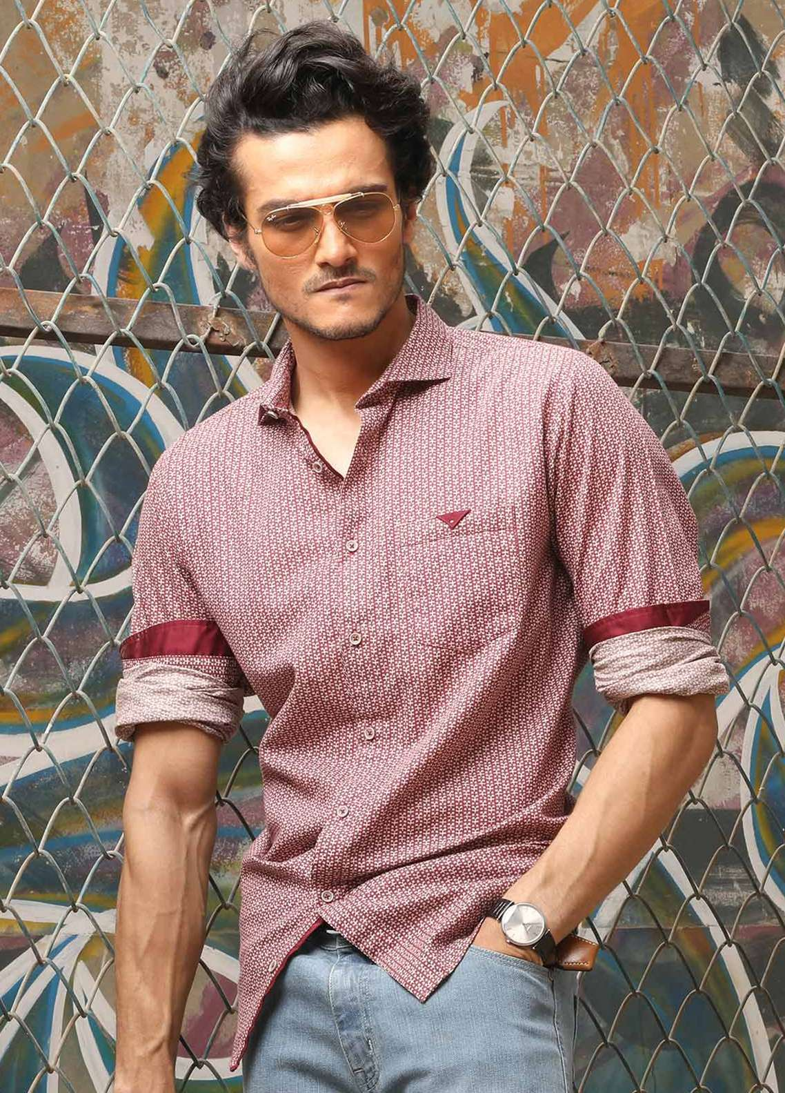 Furor  Casual Shirts for Men - Burgundy FRM18CS 31212