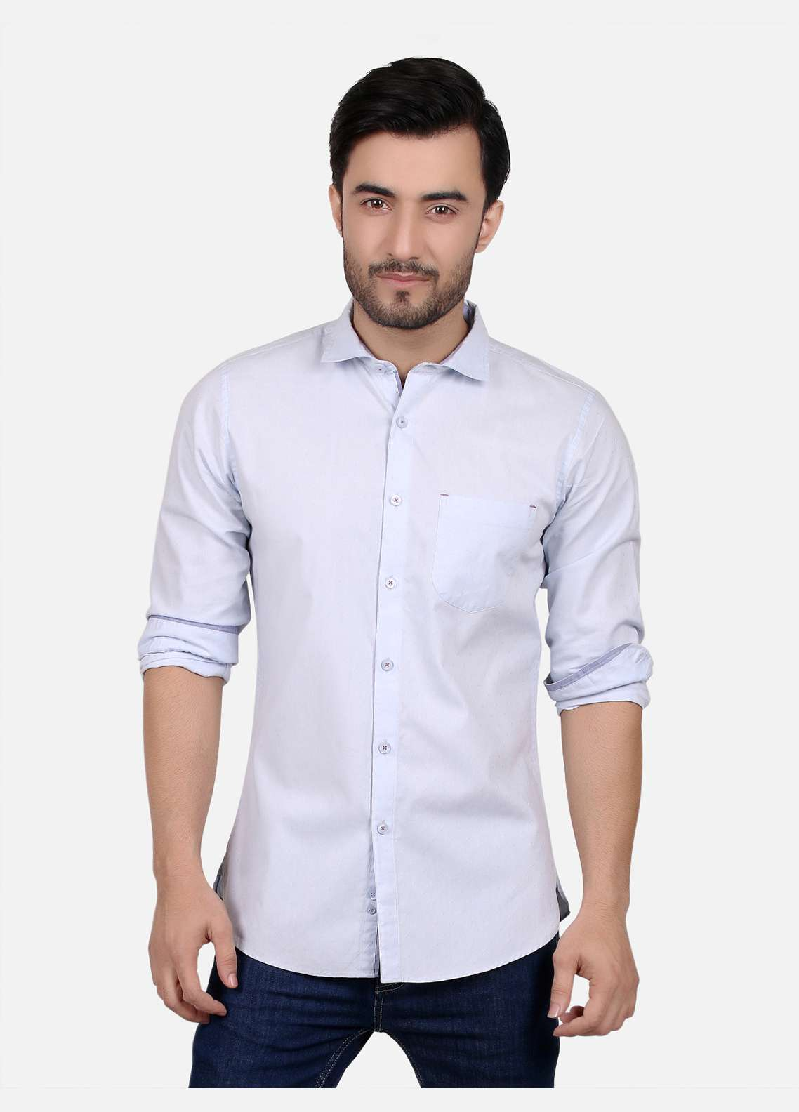 Furor  Casual Shirts for Men - Ice Blue FRM18CS 31213