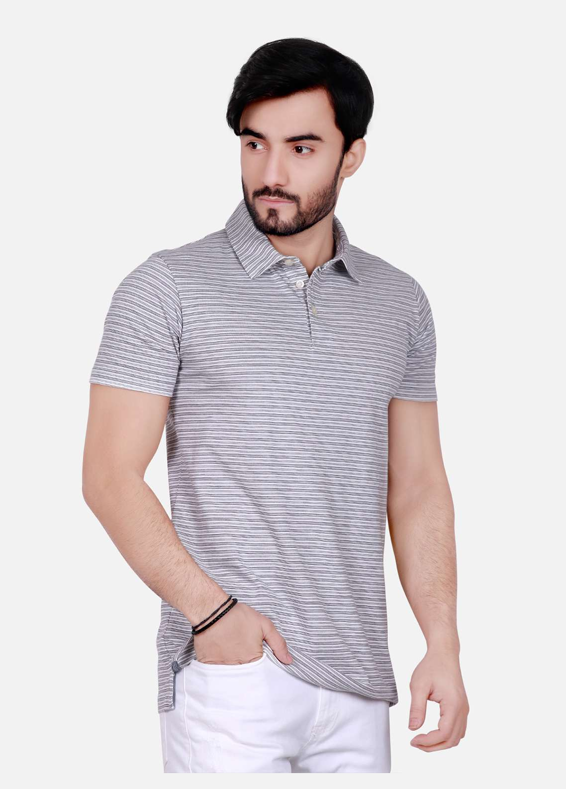 Furor Cotton Polo Men T-Shirts - Grey FRM18PS 014