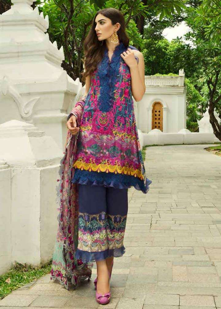 Farah Talib By LSM Embroidered Lawn Unstitched 3 Piece Suit FT17E 1A