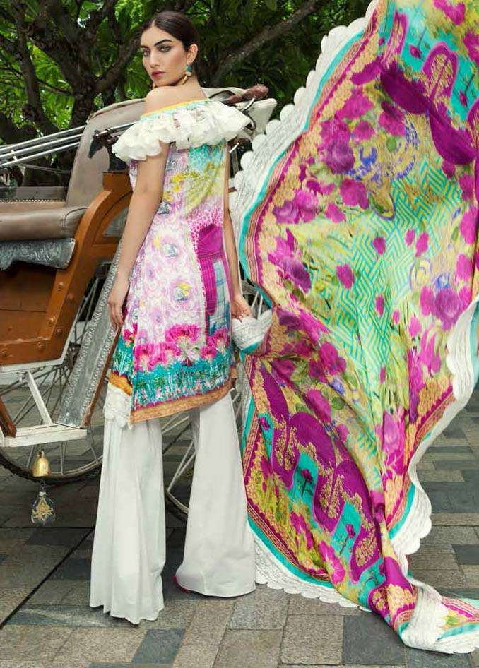 Farah Talib By LSM Embroidered Lawn Unstitched 3 Piece Suit FT17E 2A