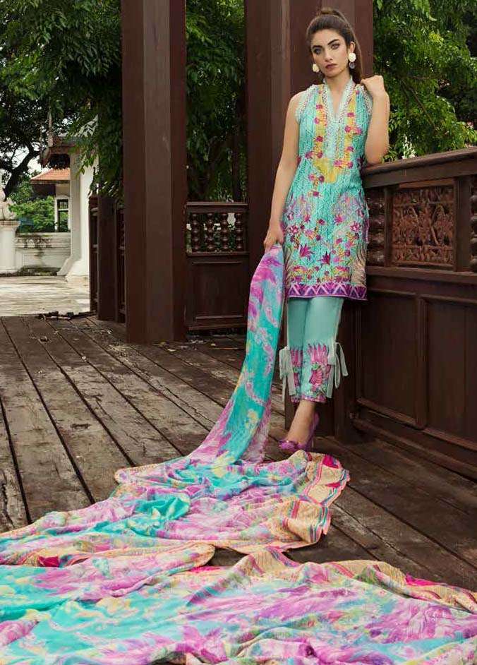 Farah Talib By LSM Embroidered Lawn Unstitched 3 Piece Suit FT17E 3A