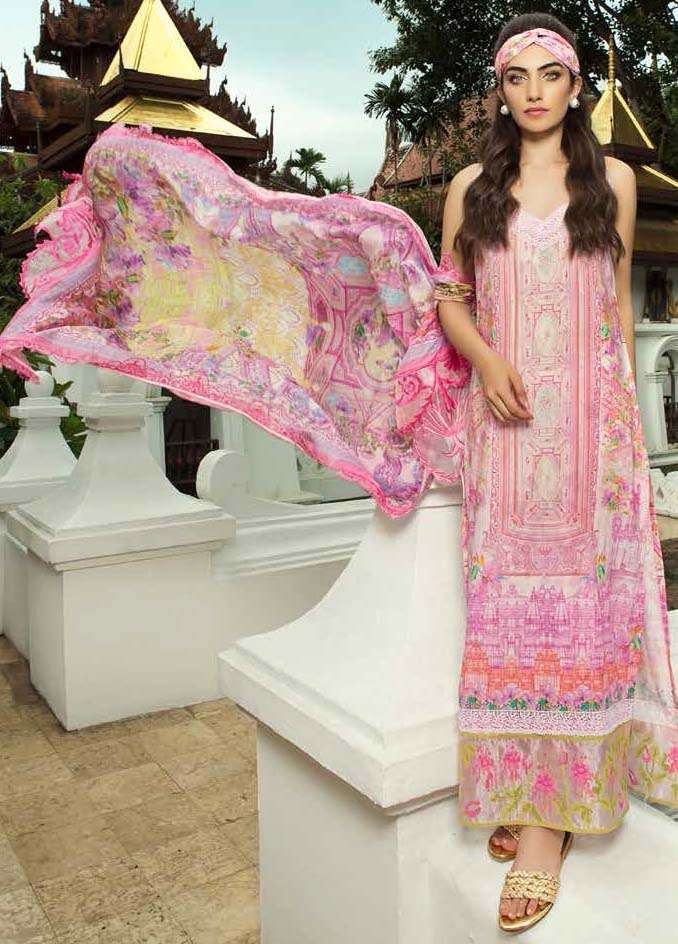 Farah Talib By LSM Embroidered Lawn Unstitched 3 Piece Suit FT17E 4B