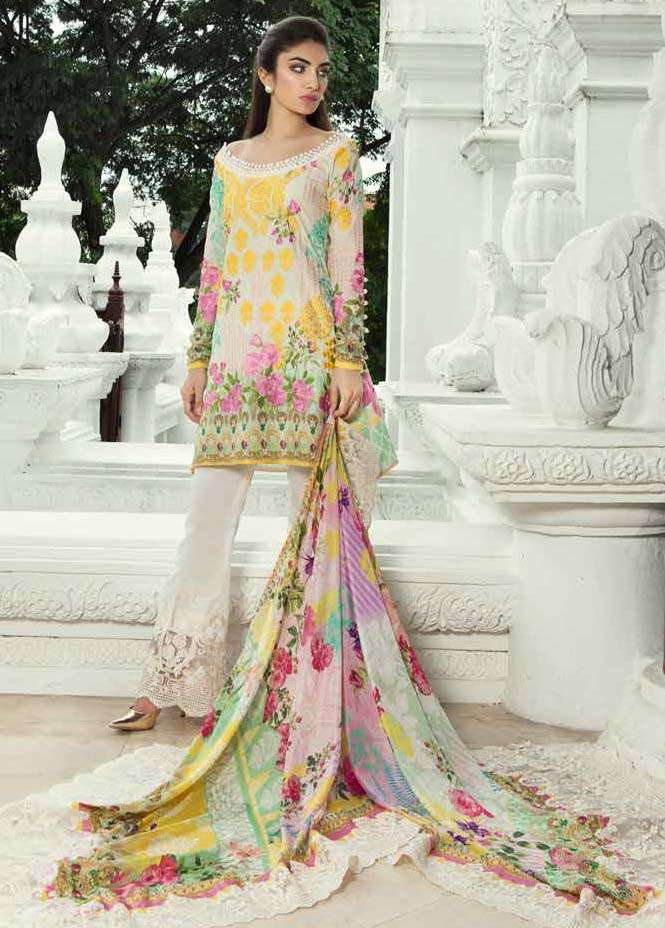 Farah Talib By LSM Embroidered Lawn Unstitched 3 Piece Suit FT17E 5B