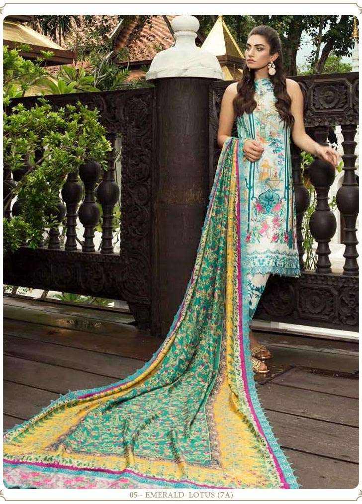 Farah Talib By LSM Embroidered Lawn Unstitched 3 Piece Suit FT17E 7A