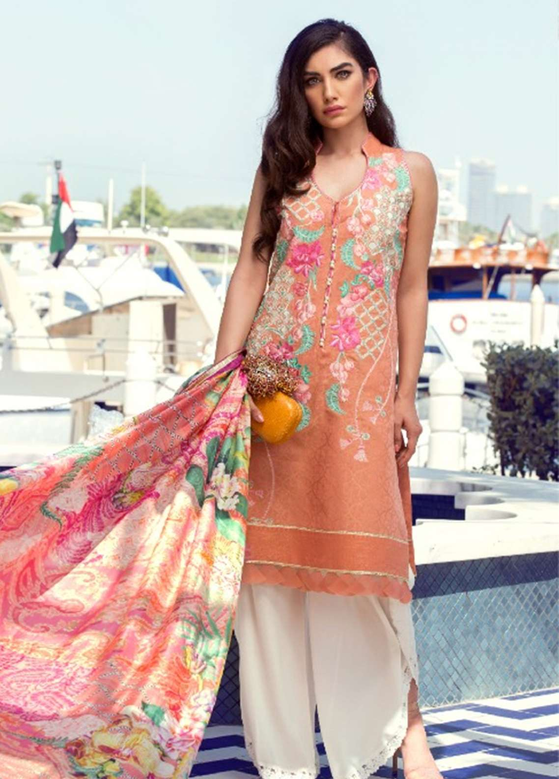 Farah Talib Embroidered Lawn Unstitched 3 Piece Suit FT18E 02 - Eid Collection