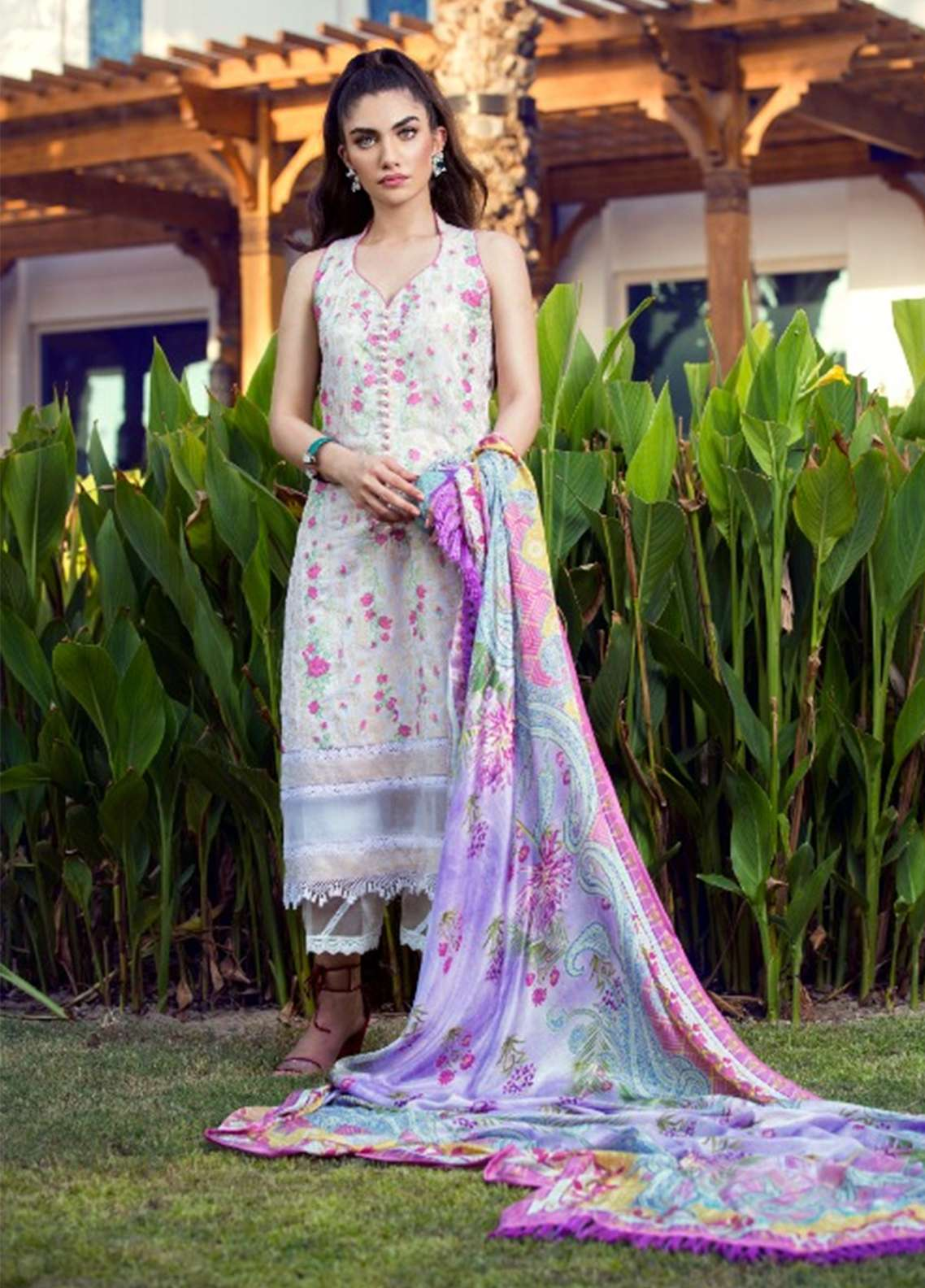 Farah Talib Embroidered Lawn Unstitched 3 Piece Suit FT18E 05 - Eid Collection