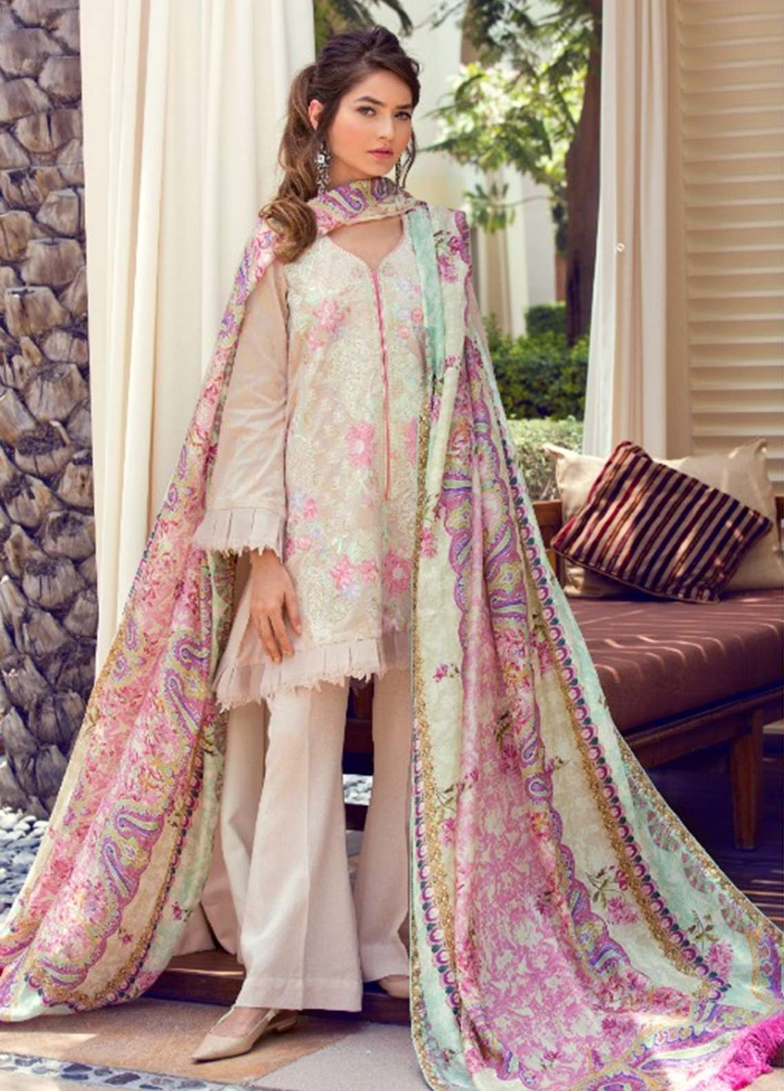 Farah Talib Embroidered Lawn Unstitched 3 Piece Suit FT18E 07 - Eid Collection